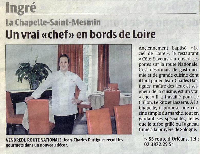 Un vrai chef en bords de Loire